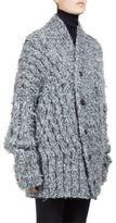 Ann Demeulemeester Hand-Knit Silk & Alpaca Cardigan
