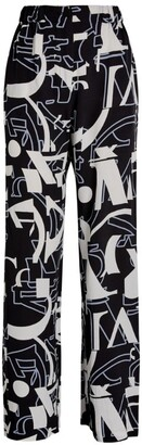 Max & Co. Wide-Leg Lettering Print Trousers