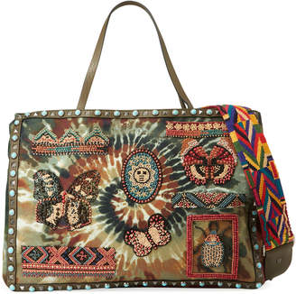 Valentino Garavani Tie Dye Beaded Patch Tote Bag