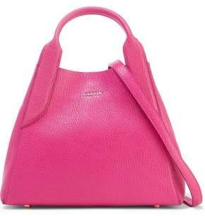 Lanvin Mini Cabas Textured-leather Shoulder Bag