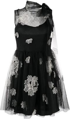 RED Valentino Flower Applique Mini Dress