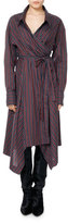Isabel Marant Mila Striped Cotton Wrap Shirtdress
