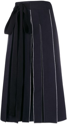 Sara Lanzi Tie-Fastening Pleated Skirt