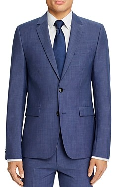 HUGO Astian Micro Check Extra Slim Fit Suit Jacket