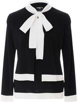 Paule Ka Layered Neck Tie Sweater