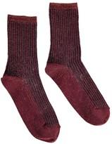 soeur Lurex Ribbed Socks