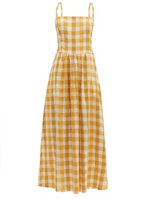Ace&Jig Kennedy Checked Cotton-blend Maxi Dress - Womens - Yellow