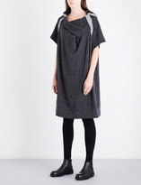 Y's Ys Draped relaxed-fit cotton and linen-blend dress