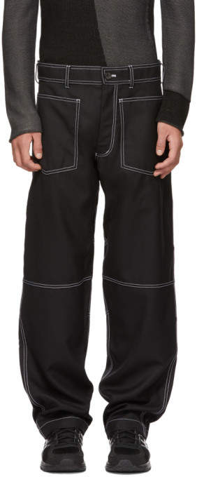 Comme des Garcons Black Workstitch Trousers
