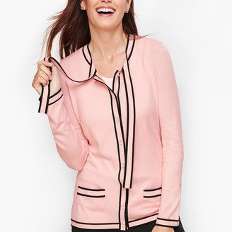 Talbots Tipped Bow Cardigan