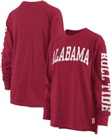 Unbranded Women's Pressbox Crimson Alabama Crimson Tide Two-Hit Canyon Long Sleeve T-Shirt