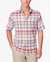Tasso Elba Men's Linen Madras Shirt, Only at Macy's