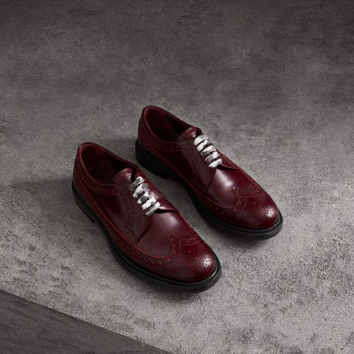 Burberry Leather Brogues with Painted Laces