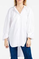 Ellery Faint High-Neck Shirt