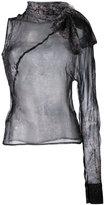 A.F.Vandevorst patterned one sleeve blouse