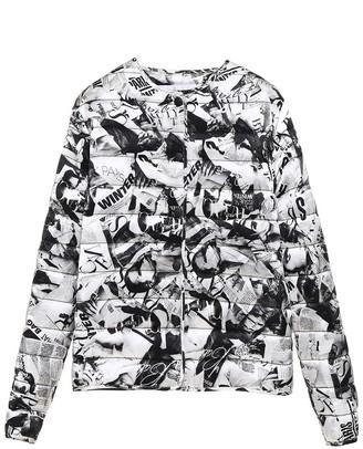 Balenciaga Graphic Printed Down Jacket