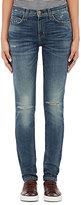 Current/Elliott Women's The High Waist Ankle Skinny Jeans-BLUE