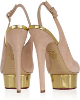 Charlotte Olympia The Dolly Suede Pumps - Blush