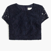 J.Crew Floral lace short-sleeve crop top