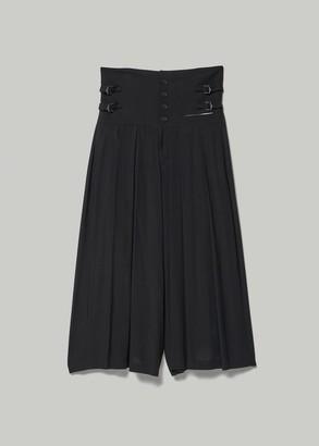 Yohji Yamamoto Women's Pintuck High Waisted Wide Pant in Black Size 1