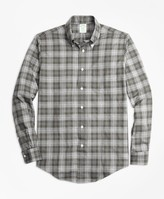 Brooks Brothers Milano Fit Plaid Flannel Sport Shirt