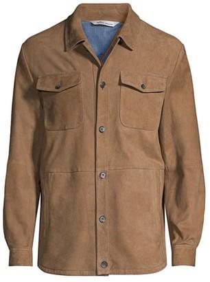 Peter Millar Suede Unlined Shirt Jacket