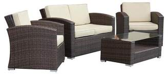 Sabrina 4 Piece Rattan Sofa Seating Group with Cushions Mistana
