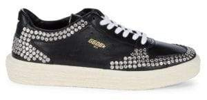 Golden Goose Studded Leather Low-Top Sneakers
