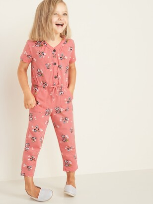 Old Navy Jersey Button-Front Jumpsuit for Toddler Girls