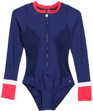 Next Coral Reef Long Sleeve Zip One-Piece Swimsuit