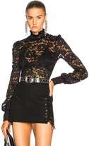 L'Agence Samara Lace Top in Black.