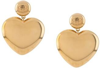 Balenciaga BB heart earrings