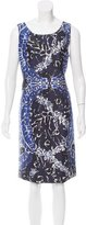 Oscar de la Renta Printed Knee-Length Dress