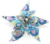 Alexis Bittar Lucite Poppy-Print Flower Brooch