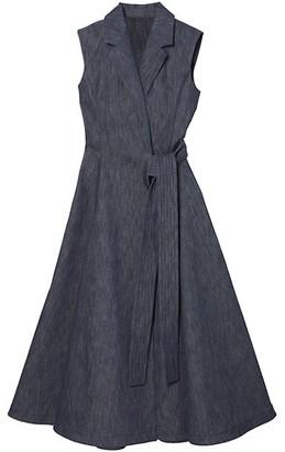 Carolina Herrera Sleeveless Chambray Coat Dress