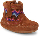 Minnetonka Infant/Toddler Girls) Dusty Brown Sweater Booties
