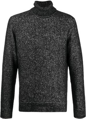 Ermenegildo Zegna Silk-Cashmere-Wool Blend Roll Neck Jumper