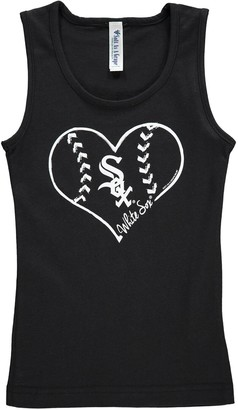 Unbranded Girls Youth Soft as a Grape Black Chicago White Sox Cotton Tank Top