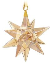 Swarovski Star Ornament, Golden Shadow