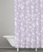 Kassatex Kassa Kids Cotton Butterfly Shower Curtain
