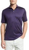 Ermenegildo Zegna Mercerized Cotton Polo Shirt, Eggplant
