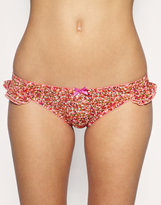 ASOS Boudoir Dotty Scrunchie Frill Brief
