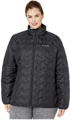 Columbia Plus Size Delta Ridgetm Down Jacket (Black) Women's Coat