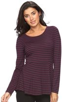 Apt. 9 Women's Long Sleeve Peplum Tee