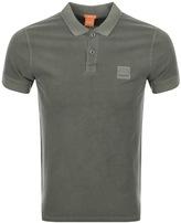 BOSS ORANGE Pascha Polo T Shirt Green
