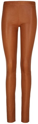 Elle.Sd Leather Leggings in Camel