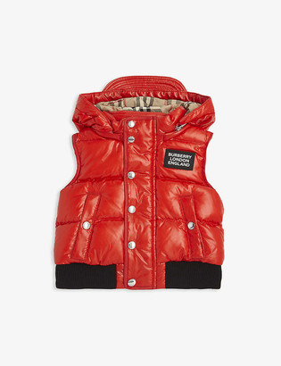 Burberry Lukas down padded gilet 6-24 months