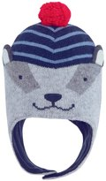 Jo-Jo JoJo Maman Bebe Badger Hat (Baby) - Navy/Blue Stripe-6-12 Months