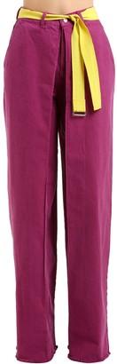 Aalto High Waist Wide Leg Cotton Denim Jeans
