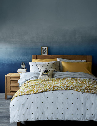Marks and Spencer Cotton Rich Bee Print Bedding Set